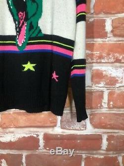 $1600 SAINT LAURENT M/L T-Rex Sweet Dreams Dinosaur Oversized Crewneck Sweater