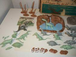 1960-1962 MARX Playset PREHISTORIC TIMES DINOSAURS T-REX Near Complete