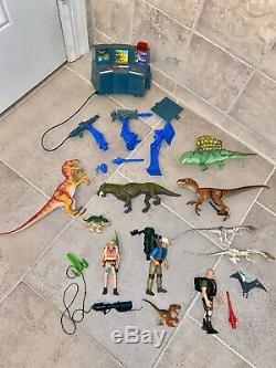1993 Kenner Jurassic Park Command Compound With T-Rex Figures Parts Lynx Dinosaurs