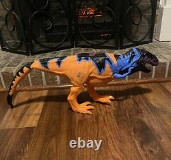 1998 Kenner Jurassic Park Chaos Effect OMEGA T-REX Tyrannosaurus Rex WORKS