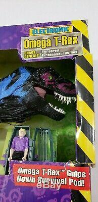 1998 Kenner Jurassic Park Chaos Effect Omega T-Rex Tyrannosaurus Rex NIB