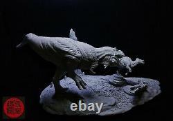1/20 Tyrannosaurus Rex Hunt Edmontosaurus Statue T-REX 2.0 Dinosaur Animal Toy
