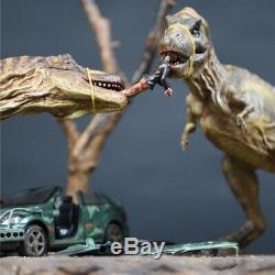 1/24 Tyrannosaurus T Rex Fight Car 33 Super Scene Dinosaur Model Collector Gift