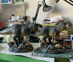 1/35 Tyrannosaurus Statue Model 17 T Rex Dinosaur Dino Collector Decor Gift GK