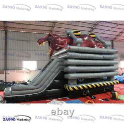 29x16ft Inflatable T-Rex Dinosaur Bounce House & Slide With Air Blower