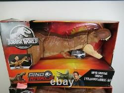 2 Jurassic World Super Colossal Tyrannosaurus Rex T-rex Dinosaur Dino Rivals