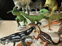 51PC Vintage-Now Schleich Safari Dinosaur LOT Figure Retired HTF T-Rex Raptor