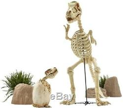 9 ft. Standing Skeleton T-Rex Dinosaur withLED Illuminated Eye Halloween Decoration