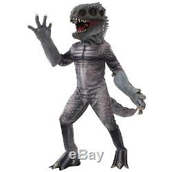 ADULT T-REX JURASSIC DINOSAUR COSTUME men's raptor cosplay latex mask and hands