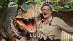 Adult Realistic T-REX walking animatronic dinosaur costume with hidden legs