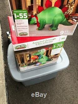 Animated Christmas T Rex Inflatable Rare Htf Bnib Dinosaur Gemmy Airblown