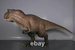 Brown T Rex Dinosaur With Head Turned Life Size Statue