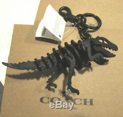 COACH $145 Dinosaur Rexy T Rex Multi Key Ring Purse Bag Charm Black 55868 BOX