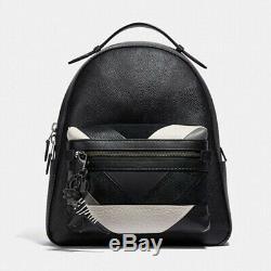 COACH $150 Dinosaur Rexy T Rex Key Ring Purse Bag Charm Black White 39403 BOX