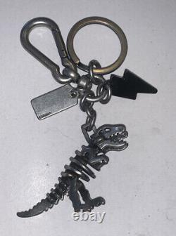 COACH Black Rexy T-Rex Dinosaur and Lightning Bolt Key Ring Bag Charm 3 Figure