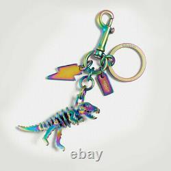 COACH Dinosaur Rexy T Rex Multi Key Ring Purse Bag Charm Rainbow 54993