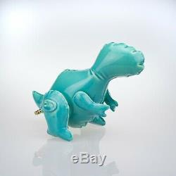 Charity Listing. Brett Kern Art Dinosaur Turquoise T-Rex