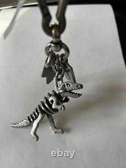 Coach 65133 T-rex Rexy Dinosaur Silver Charm Keychain Fob Bag Charm