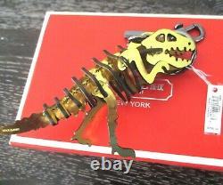 Coach Gold Rexy T-Rex Puzzle Keychain Key Fob Bag Charm NWT