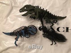Coach Kaffe Fassett Medium Rexy Dinosaur T. Rex Puzzle Bag Charm Key Chain