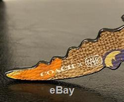 Coach Kaffe Fassett Medium Rexy Dinosaur T rex Puzzle Bag Charm Key Chain NWT