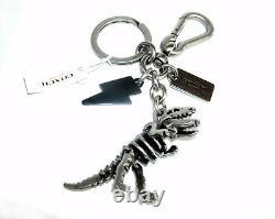 Coach Rexy Bag Charm Keychain 65133 T Rex NWT Skeletal Dinosaur 3-D