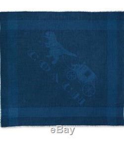Coach Rexy Dinosaur Oversized Scarf Limited Edition T Rex Scarf Nwt Blue