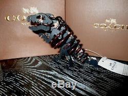 Coach Small Floral Rexy T-Rex Dinosaur Keychain Key Fob Bag Charm NWT