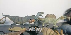 Collecta Dinosaur Lot model T-rex with prey Struthiomimus Rare & Retired