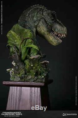 Dam Toys Museum Collection Series Dinosaur MUS001B Green Bust Statue T-Rex