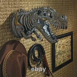 Design Toscano Bones of the Dinosaur T-Rex Skeleton Wall Sculpture