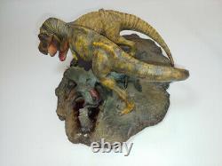 DinoStoreUs Fighting Tyrannosaurus Rex T-Rex & Triceratops Dinosaure Diorama