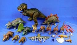 Dino Riders Huge Lot Of 14 Dinosaurs T-rex Triceratops 1987 Tyco