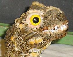 Dinosaur Tryannosaurus Rex T Rex John Fischner Signed Baby Hatching Egg RARE 80s