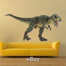 Dinosaur Wall Mural Wallpaper Kids Room Dinosaur T-Rex Tyrannosaurus Decal, c94