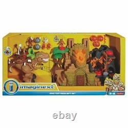 Fisher Price Imaginext Dino Fortress Giftset T-Rex Dinosaur and Accessories Set