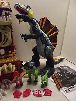 Fisher Price Imaginext Dinosaur T-rex Mountain Stegosaurus Mega Spinosaurus Lot