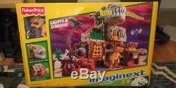 Fisher Price Imaginext T-Rex Mountain Set NEW Light & sounds Dinosaurs playset
