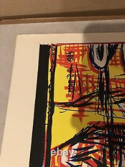 Gary Panter 1985 Unexpected Silkscreen T-Rex Signed Limited Edition 94 Of 100