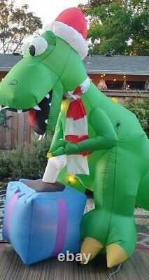 Gemmy 9ft T-REX Dinosaur withBone Christmas Lighted Airblown Inflatable