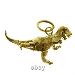 Gold T-rex Dinosaur Pendant. Hallmarked 9 Carat Gold T-rex Dinosaur Pendant