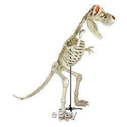 Halloween Huge 9 Ft T Rex Dinosaur Skeleton Sounds Led Prop Decoration Cemetary