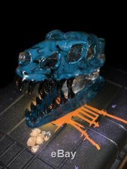 Heady Dinosaur Head T Rex glass water pipe USA Glass
