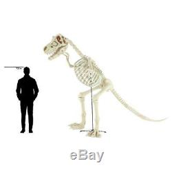Home Accents Holiday 9 ft. Standing Skeleton T-Rex Dinosaur with LED Illuminated