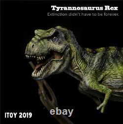 ITOY Green Tyrannosaurus Statue T Rex Dinosaur Model Collector Decor Toys Gift