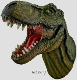 Jurassic King T-Rex Tyrannosaurus Rex Dinosaur Head Wall Mount Statue