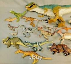 Jurassic Park 1, 2, 3, Dinosaur Lot Of 21 Hasbro Lost World Some Rare T-rex
