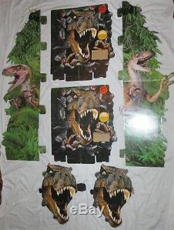 Jurassic Park LARGE cardboard standee stand display t-rex dinosaur velociraptor