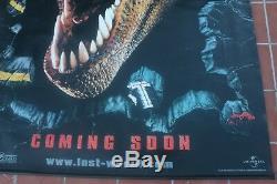 (Jurassic Park) LOST WORLD film/ Mundo Perdido, T rex dinosaur, poster