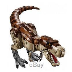 Jurassic Park T Rex Rampage Compatible 75936 Building Blocks+ DHL+Instruction